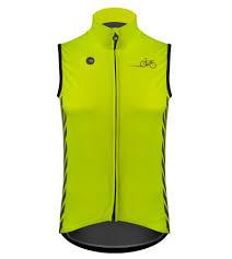 neon cycling jacket aero tech designs elite cycling gilet high visibility