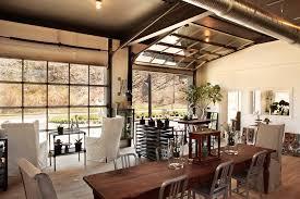 Garage Door Conversion Living Room Eclectic With Aluminum Side - Garage family room