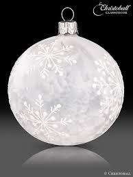 christoball schneeflöckchen weihnachtskugel christbaumkugel