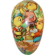 vintage paper mache easter eggs german colorful paper mache easter egg candy container
