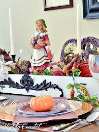 paper tablescape thanksgiving slightly coastal