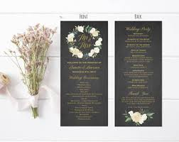 vista print wedding programs burgundy floral wedding program fan style template printable