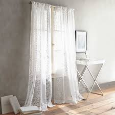 Emerald Curtain Panels by Dkny Halo Rod Pocket Sheer Window Curtain Panel In White Curtain