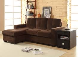 Modern Sectional Sofas Microfiber Homelegance Phelps Sectional Sofa Coffee Microfiber 9789cf 3lc