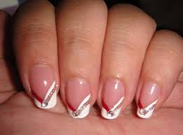 red and white french manicure ideas manicure pinterest