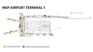 msp airport terminal map airport commission likely to seek more eateries bars for