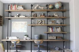 Building Wood Bookcases by How To Build Industrial Shelves Beneath My Heart