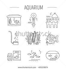 Decorative Water Tanks Hand Drawn Thin Line Icon Vector Stock Vector 490177480 Shutterstock