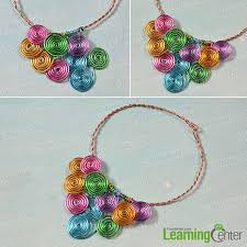 how to make a wire wrapped multi colored statement necklace