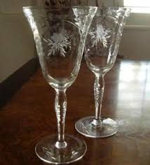 wine glass with initials etched wine glasses ebay