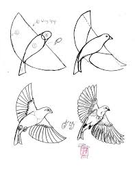 25 flying bird drawing ideas draw