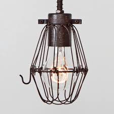 Cage Only Basic Wire Bulb Cage Pendant Sold Separately