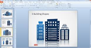 free office building shapes for powerpoint free powerpoint