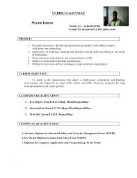 Updated Resume Examples by Shyam Kumar Updated Resume