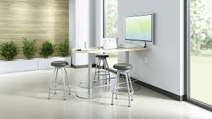 Bar Height Conference Table Exchange Tall Table U0026 Collaborative Tables Steelcase