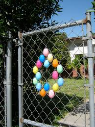 Fence Decorations Sweater Surgery The Easter Egg Chain Link Fence Decoration