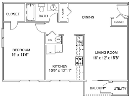 Floor Plan Apartment Design This Is A Nice Simple Floor Plan For A One Bedroom Apartment I