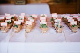 Flower Pot Wedding Favors - plant and herb wedding favors photo by connie lyu photography via