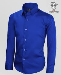 black n bianco boys u0027 signature sateen dress shirt in blue