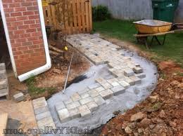 Cutting Patio Pavers Best Paver Path Hard Work But Worth Every Sore Muscle The Diy