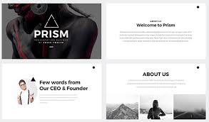 modern black and white presentation template 60 beautiful premium