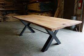 reclaimed wood table with metal legs wonderful reclaimed wood live edge dining table moss design woods