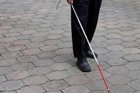 Blind People Stick White Cane Safety Day In The United States