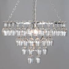 4 tier 60 wine glass chandelier chrome