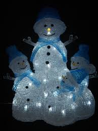 china snowman family acrylic decoration light with led