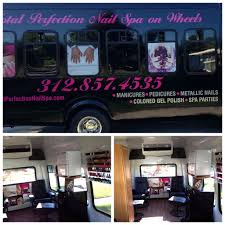 chicago u0027s first mobile nail salon mobile nail spa on wheels