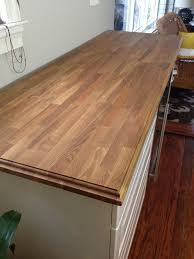 door beveled edge countertop how to make a mitered edge so living on the edge adding a decorative to butcher block counters old town home bdb