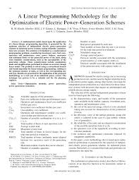 a linear programming methodology for the optimization of electric