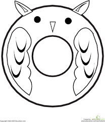 letter o coloring page animal alphabet worksheets and owl