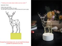How To Cut Led Strip Lights by Laser Cut Deer Night Light