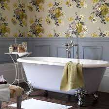 wallpaper bathroom ideas bathroom design bathroom wallpaper clawfoot tubs design ideas