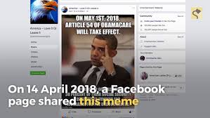 Obamacare Meme - fact check is article 54 of obamacare taking effect in may 2018