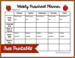 free preschool lesson plan template printable business templates