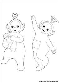 teletubbies colotring pages