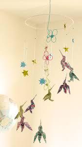 origami chambre bébé mobile bébé origami suspension en spirale chambre enfant bébé oiseau