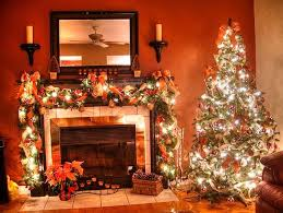 Christmas Decoration Ideas Fireplace Christmas Decorating Fireplace Without Mantle Home Design Ideas
