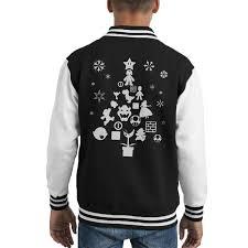 super mario bros christmas tree silhouette white kid u0027s varsity