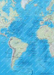 Mercator World Map by Atlantic Ocean Mercator Map Illustrator Mountain High Maps Plus
