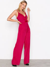 strappy jumpsuit satin strappy jumpsuit missguided pink jumpsuits clothing