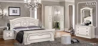 bedroom esf aida italian bedroom set in white silver sfdark