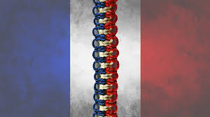 easy friendship bracelet in the colors of french flag diy youtube