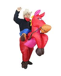 halloween inflatable costume horse riding party cosplay
