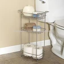 Bathroom Shelving Unit by New Bathroom Cart Shelf Floor Stand Laundry Office Slim Chrome 3