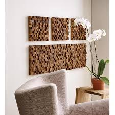 3 wood wall square takara wall teak wood 3d uncommongoods