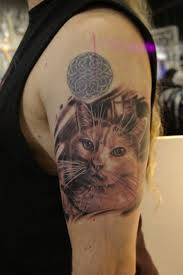 cat portrait tattoo fancy cat portrait tattoos cat portrait