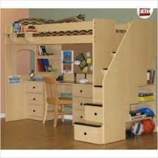 Bunk Bed With Stair White Loft Bed With Stairs Foter
